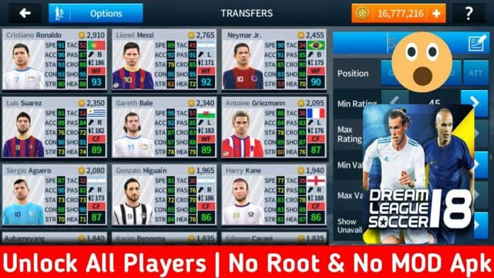 How to Unlock all players in Dream League Soccer