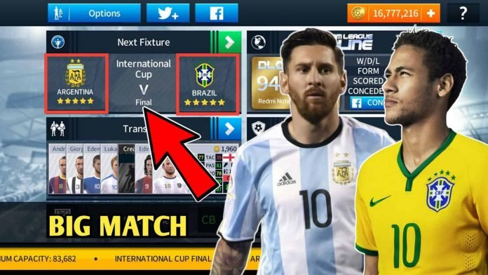 Brazil Vs Argentina International Cup Final Data For Dream League Soccer