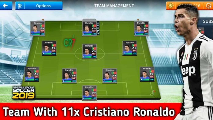 Dream League Soccer 2019 All Players Are Ronaldo Team Download
